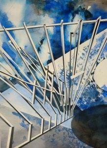 Maya Vonmoos Arbeit auf Papier - ausgestellt in der Galerie ART FORUM UTE BARTH Zürich