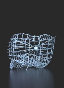 Maya Vonmoos Skulptur - ausgestellt in der Galerie ART FORUM UTE BARTH Zürich
