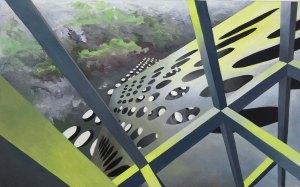 Maya Vonmoos Arbeit auf Papier - ausgestellz in der Galerie ART FORUM UTE BARTH Zürich