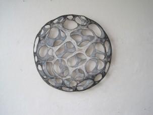 "Ute Haecker (D) ""Planet"", 2010. Acyrl auf Holz- 73 x 73 cm. (SFr. 4000.-)"