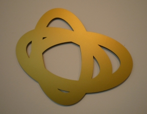 Susanna Niederer, 3E(D), 2010, Zincor pulverbeschichtet, 30 x 37 cm, Monogrammiert