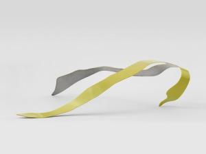 Judith Trepp, Untitled 2010, Edelstahl und Autolack, 18 x 68 x 66cm, ART FORUM UTE BARTH