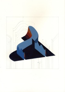 Marie von Heyl (*1981), Disentanglement 2, 2011, Aquarell und Bleistift auf Papier 30 x 40 cm, Rückseitig signiert und datiert