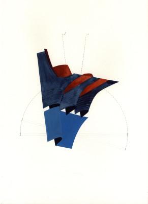 Marie von Heyl, Disentanglement 3, 2001, Aquarell und Bleistift auf Papier, 30 x 42cm, Rückseitig signiert und datiert