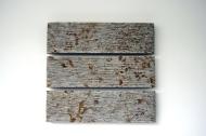 Dieter Kränzlein, Wandarbeit 3-teilig, 2011, Mooser Muschelkalk, 64 x 70 x 10 cm