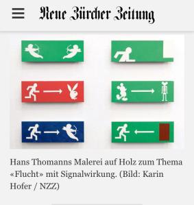 die 'NotRAusgänge' von Hans Thomann in der NZZ
