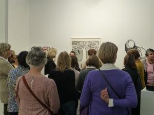 Viel Interesse an der Kunst