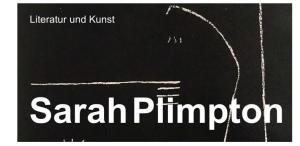 Sarah Plimpton Lesung Reading 2017 Zürich
