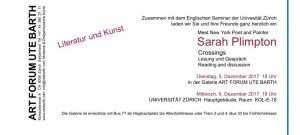 Sarah Plimpton Lesung / Reading 2017 Schweiz