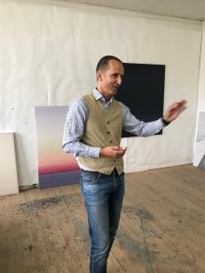 Hans Schnorf im Atelier 2018 Zürich