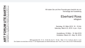 Eberhard Ross Solo Show Galerie Ute Barth Zürich