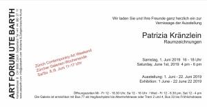 Ausstellung Patrizia Kränzlein Zürich Juni 2019