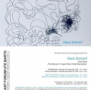 Solo Show Hans Schnorf 2020